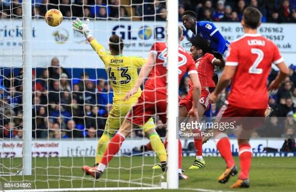 Dominic Iorfa of Ipswich Town scores his sides second goal during the Sky Bet Championship match between Ipswich Town and Nottingham Forest at...