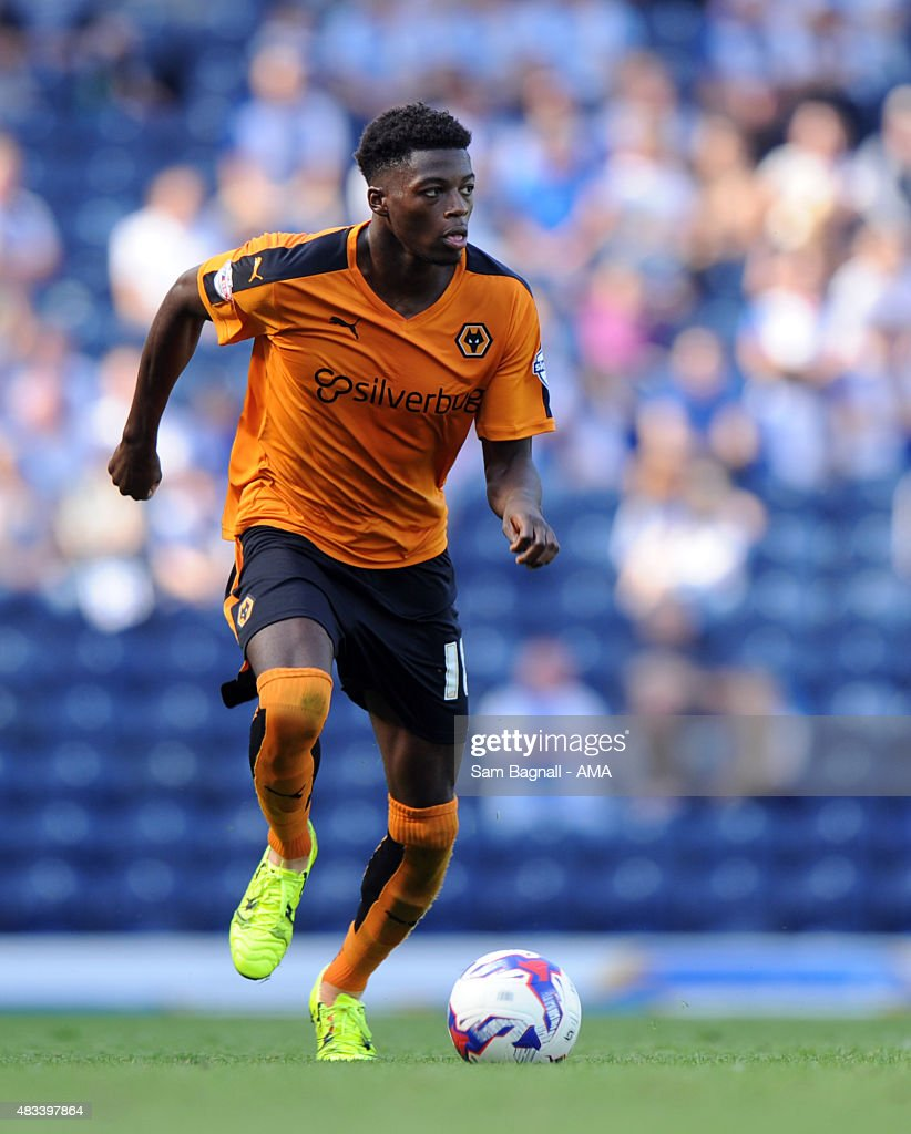Dominic Iorfa of Wolverhampton Wanderers during the Sky Bet Championship match between Blackburn Rovers and Wolverhampton Wandereres at Ewood park on August 8, 2015 in Blackburn, England.