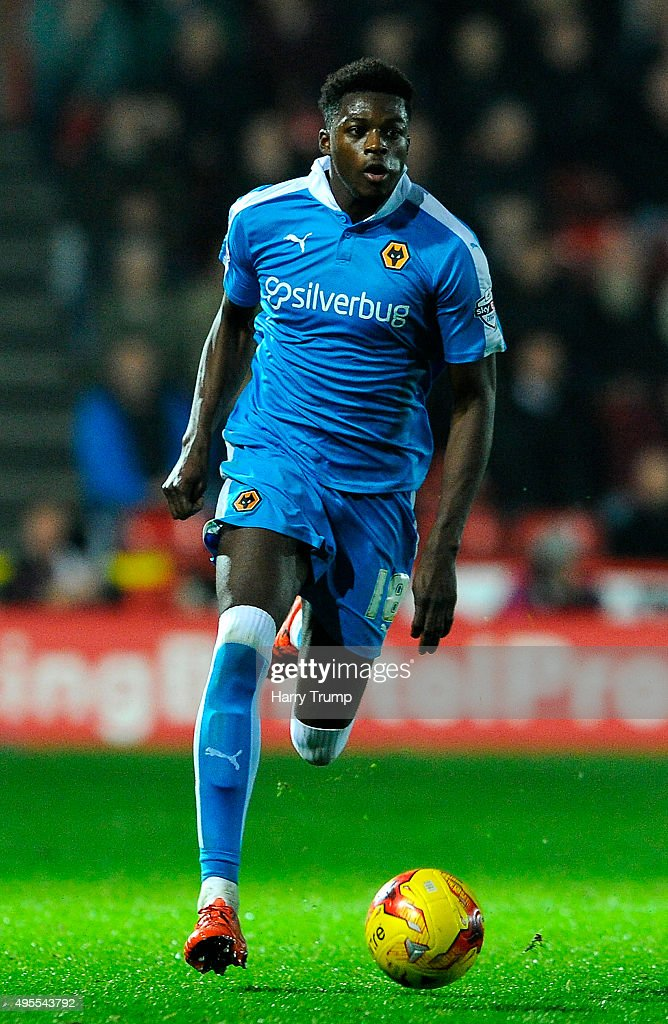 Dominic Iorfa of Wolverhampton Wanderers during the Sky Bet Championship match between Bristol City and Wolverhampton Wanderers at Ashton Gate on November 3, 2015 in Bristol, England.