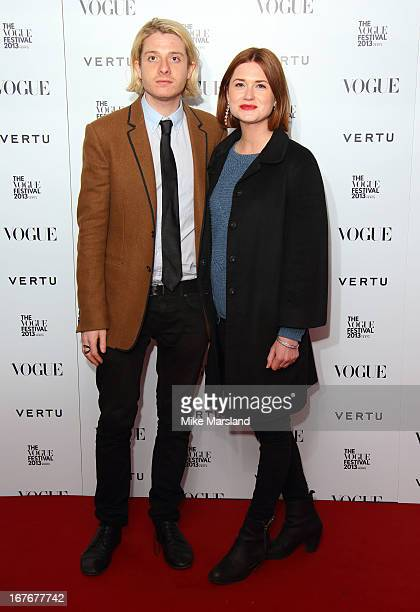 Dominic Jones and Bonnie Wright attend the opening party for The Vogue Festival in association with Vertu at Southbank Centre on April 27 2013 in...