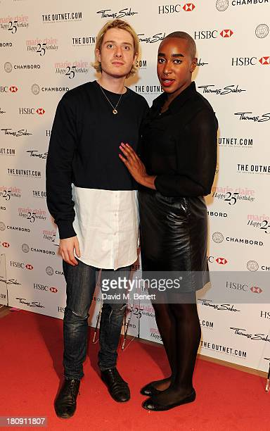 Dominic Jones and guest attend the Marie Claire 25th birthday celebration featuring Icons of Our Time in association with The Outnet at the Cafe...