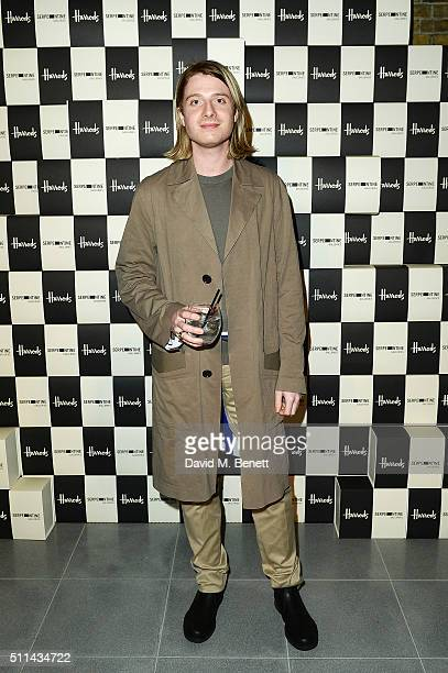 Dominic Jones attends the Serpentine Future Contemporaries x Harrods Party 2016 at The Serpentine Sackler Gallery on February 20 2016 in London...