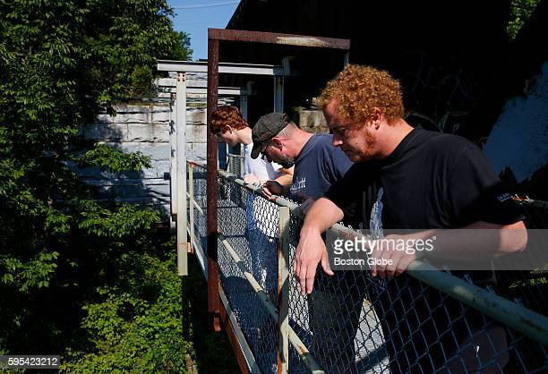 Dominic Kane cryptozoologist Bill Brock and Nick Warchol searched for Wessie the large snake that has been spotted at Riverbank Park along the...