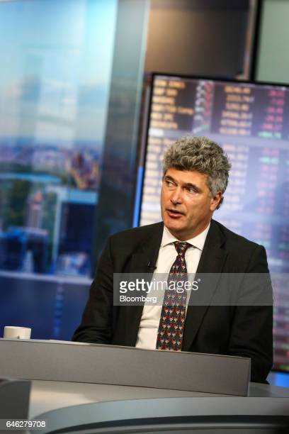 Dominic Konstam managing director of Deutsche Bank Securities Inc speaks during a Bloomberg Television interview in New York US on Tuesday Feb 28...