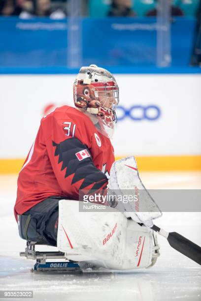 Dominic LAROCQUE during The Ice Hockey gold medal game between Canada and United States during day nine of the PyeongChang 2018 Paralympic Games on...