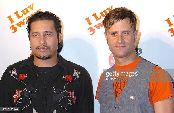 Dominic Leon and TJ Rosenthal of Rockets and Cars during Virgin Mobile Presents 3 Ways To Pay As You Go at Sky Studio in New York City New York...