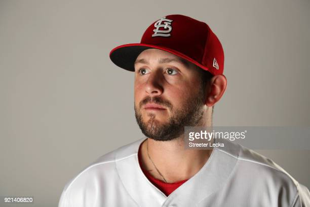Dominic Leone of the St Louis Cardinals poses for a portrait at Roger Dean Stadium on February 20 2018 in Jupiter Florida