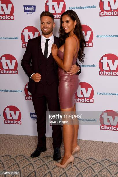 Dominic Lever and Jess Shears arrive at the TV Choice Awards at The Dorchester on September 4 2017 in London England