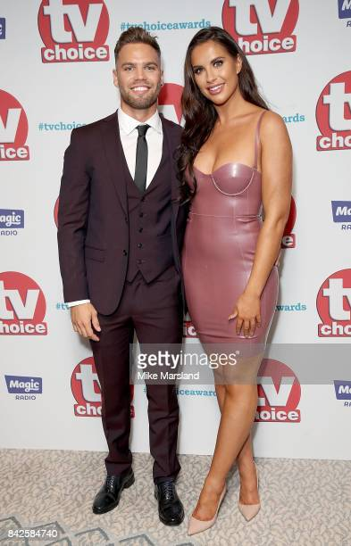 Dominic Lever and Jess Shears arrive for the TV Choice Awards at The Dorchester on September 4, 2017 in London, England.