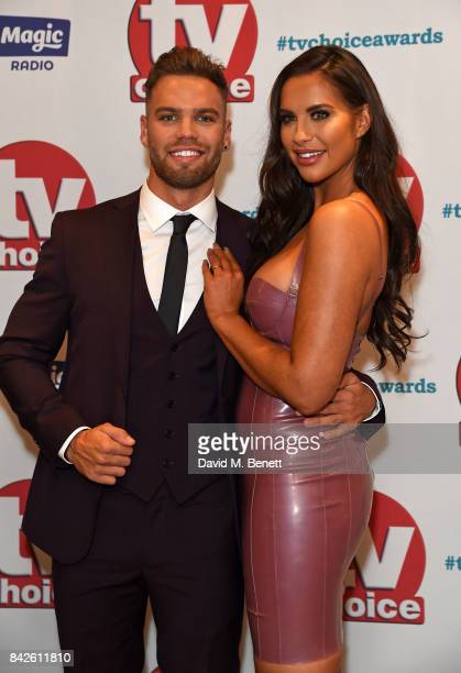 Dominic Lever and Jess Shears attend the TV Choice Awards at The Dorchester on September 4 2017 in London England