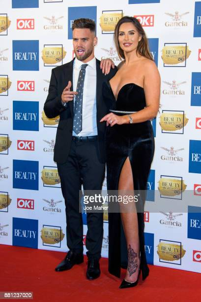 Dominic Lever and Jessica Shears attend The Beauty Awards at Tower of London on November 28 2017 in London England