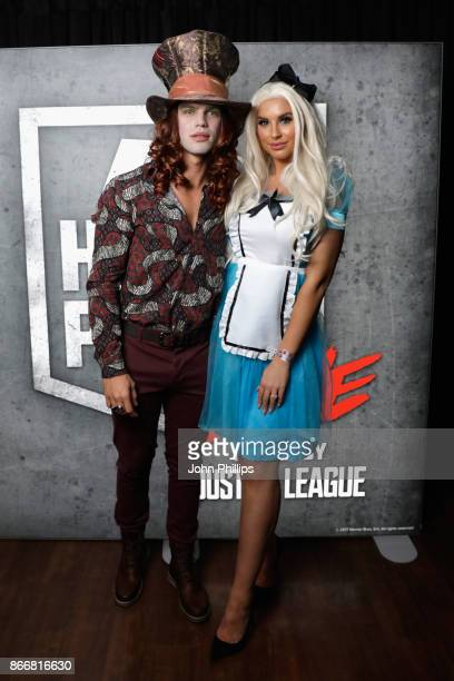 Dominic Lever and Jessica Shears attend the Kiss Haunted House Party held at SSE Arena on October 26 2017 in London England