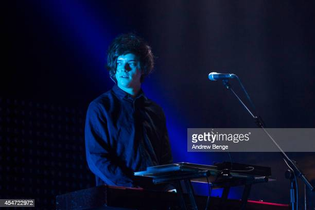 Dominic Major of London Grammar performs on stage for Festival No6 on September 5 2014 in Portmeirion United Kingdom