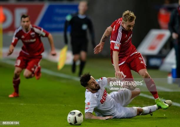 Dominic Maroh im Zweikampf mit Sonny Kittel waehrend dem Fussball Bundesliga Spiel FC Ingolstadt 04 gegen 1 FC Koeln am 24 Spieltag der Saison...