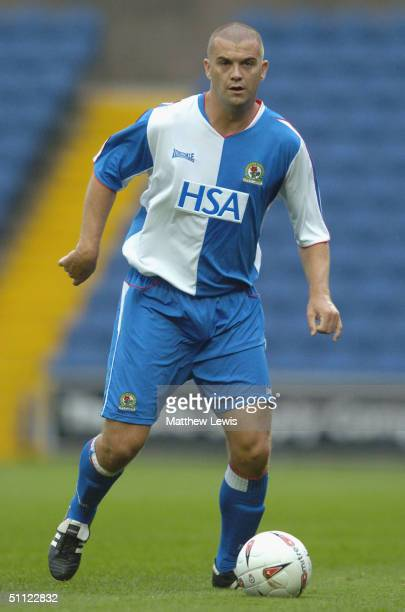Dominic Matteo of Blackburn during the PreSeason friendly match between Stockport County and Blackburn Rovers at Edgeley Park on July 28 2004 in...