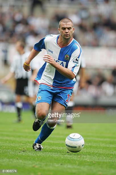 Dominic Matteo of Blackburn Rovers runs with the ball during the Barclays Premiership match between Newcastle United and Blackburn Rovers at St...