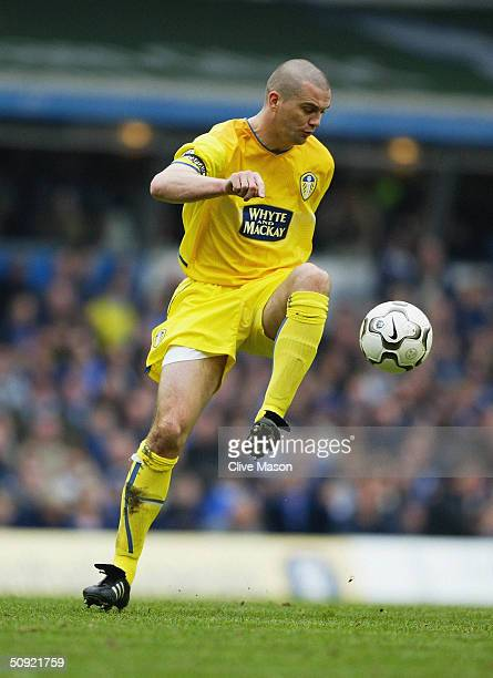 Dominic Matteo of Leeds United during the FA Barclaycard Premiership match between Birmingham City and Leeds United at St Andrew's on March 27 2004...