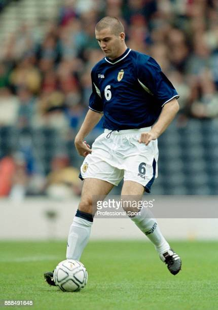 Dominic Matteo of Scotland in action during a FIFA World Cup Qualifier between Scotland and Croatia at Hampden Park on September 01 2001 in Glasgow...