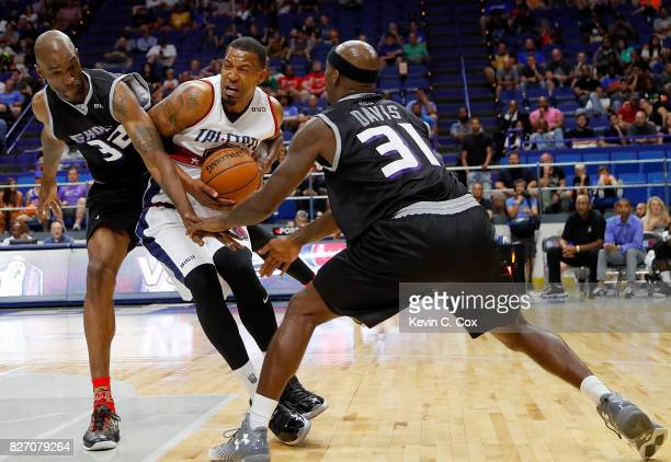 Dominic McGuire drives to the basket during the game against Ghost Ballers during week seven of the BIG3 three on three basketball league at Rupp...