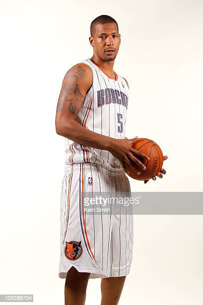 Dominic McGuire of the Charlotte Bobcats poses for a portrait during the 2010 NBA Media Day on September 27 2010 at Time Warner Cable Arena in...