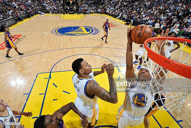 bba2d8da2b43 Dominic McGuire of the Golden State Warriors goes after the rebound in a  game against the