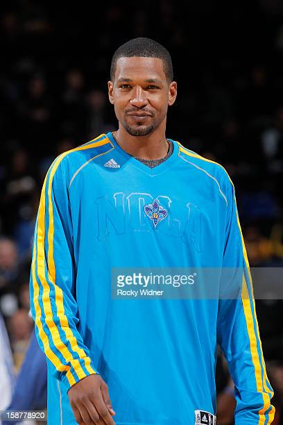 Dominic McGuire of the New Orleans Hornets in a game against the Golden State Warriors on December 18 2012 at Oracle Arena in Oakland California NOTE...