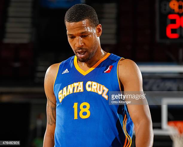 Dominic McGuire of the Santa Cruz Warriors moves up the court during a break in the action of an NBA DLeague game against the Idaho Stampede on...