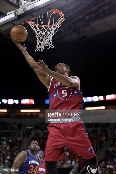 Dominic McGuire of the TriState lays up the ball against the 3's Company in week nine of the BIG3 threeonthree basketball league at KeyArena on...