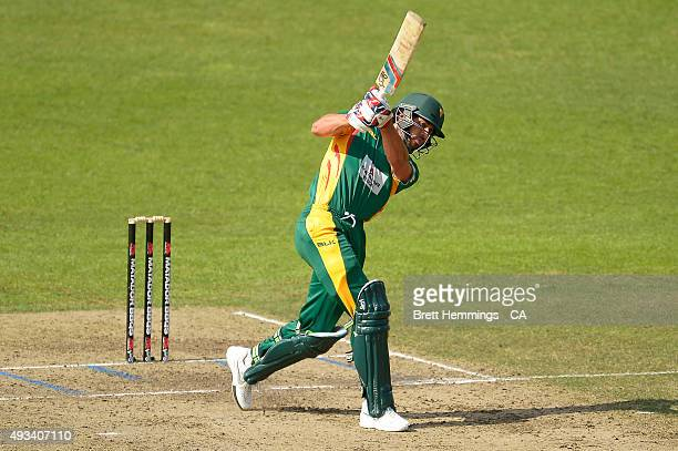 Dominic Michael of Tasmania bats during the Matador BBQs One Day Cup match between Tasmania and Victoria at North Sydney Oval on October 20 2015 in...