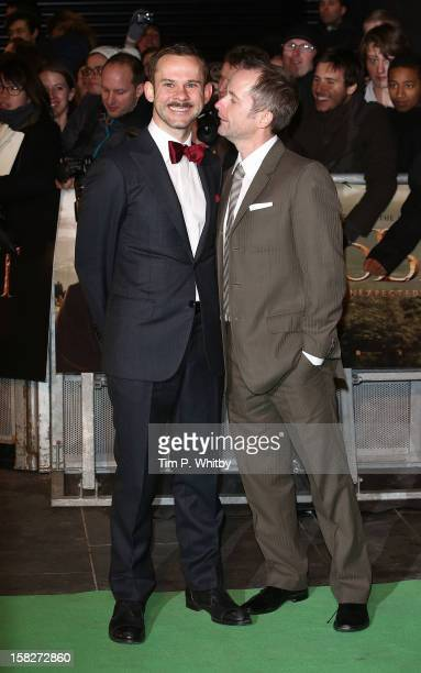 Dominic Monaghan and Billy Boyd attend the Royal Film Performance of 'The Hobbit An Unexpected Journey' at Odeon Leicester Square on December 12 2012...