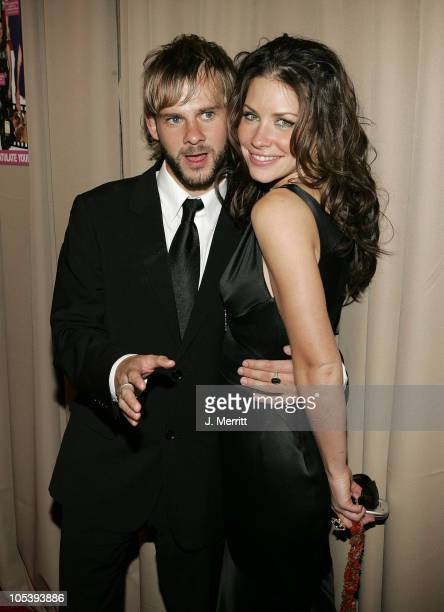 Dominic Monaghan and Evangeline Lilly during Glamour/Miramax Post Golden Globe Awards Party at Beverly Hills Hilton in Beverly Hills California...