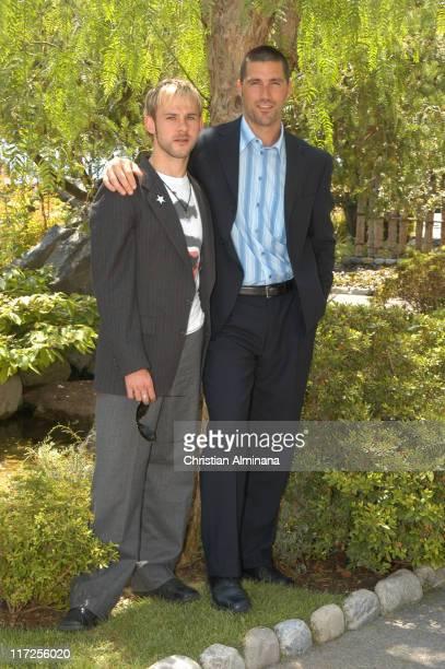 Dominic Monaghan and Matthew Fox during 45th Monte Carlo Television Festival Lost Photocall at Grimaldi Forum in Monte Carlo Monaco