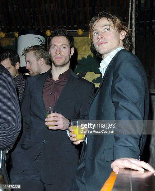 Dominic Moore and Petr Prucha during New York Rangers Host Gotham Magazines Issue Release Party at The Hiro Ballroom in New York City New York United...