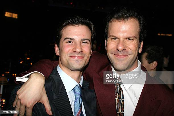 Dominic Nolfi and Steve Gouveia during Opening Night After Party for Jersey Boys on Broadway at The August Wilson Theater and The Marriott Marquis...