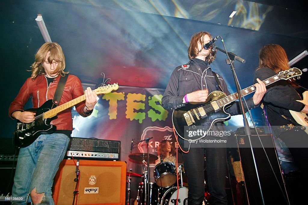 Dominic O'Dair and Tom Dougall of Toy perform on stage on Day 2 of Detestival 2013 at Queens Social Club on March 31, 2013 in Sheffield, England.