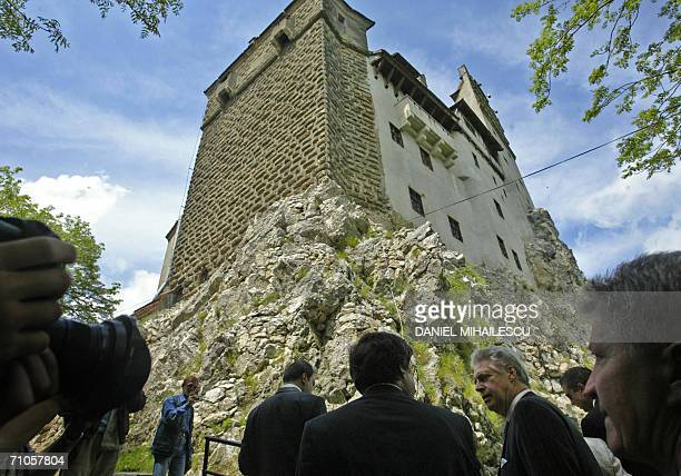 Dominic of Habsburg a New York architect climbs the hill to the Bran Castle known as Dracula Castle shortly before the handover ceremony 200km north...