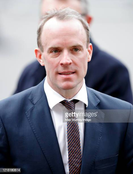 Dominic Raab Secretary of State for Foreign and Commonwealth Affairs attends the Commonwealth Day Service 2020 at Westminster Abbey on March 9 2020...