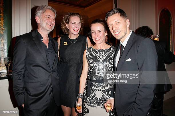 Dominic Raacke Alexandra Rohleder Ulrike Beck and Michi Beck attend the Moet Chandon Grand Scores 2016 at Hotel De Rome on February 6 2016 in Berlin...