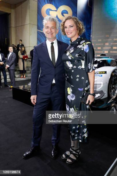 Dominic Raacke and Alexandra Rohleder arrive for the 20th GQ Men of the Year Award at Komische Oper on November 8 2018 in Berlin Germany