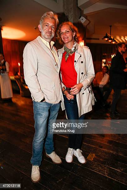 Dominic Raacke and Alexandra Rohleder attend the Artist Weekend Berlin and Soho House party with Bombay Sapphire on May 02 2015 in Berlin Germany