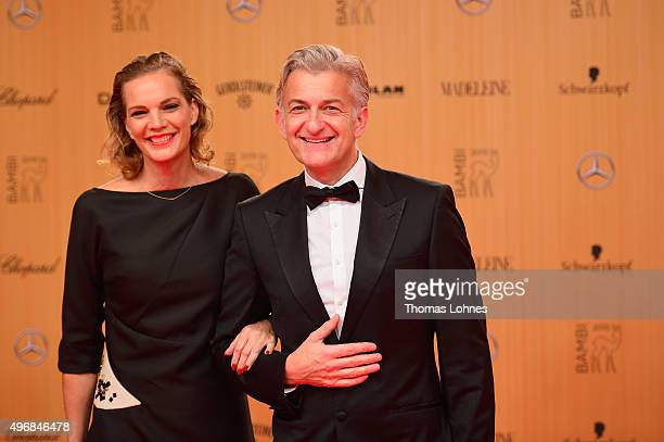 Dominic Raacke and Alexandra Rohleder attend the Bambi Awards 2015 at Stage Theater on November 12 2015 in Berlin Germany