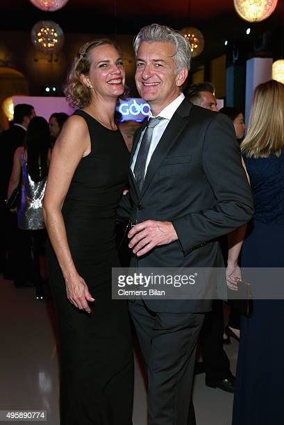 Dominic Raacke and Alexandra Rohleder attend the GQ Men of the year Award 2015 after show party at Komische Oper on November 5 2015 in Berlin Germany