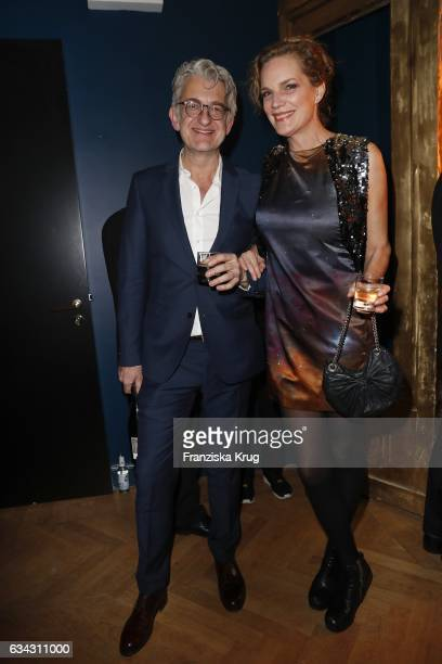 Dominic Raacke and Alexandra Rohleder attend the INTERVIEW MAGAZINE 5 Years Anniversary party at the Provocateur Hotel on February 8 2017 in Berlin...