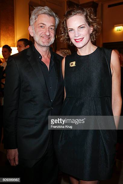 Dominic Raacke and Alexandra Rohleder attend the Moet Chandon Grand Scores 2016 at Hotel De Rome on February 6 2016 in Berlin Germany