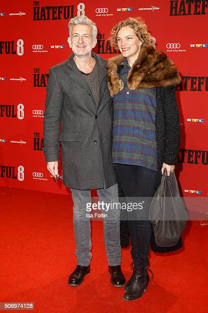 Dominic Raacke and Alexandra Rohleder attend the premiere of 'The Hateful 8' at Zoo Palast on January 26 2016 in Berlin Germany