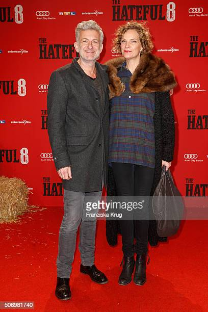 Dominic Raacke and Alexandra Rohleder attend the premiere of 'The Hateful Eight' at Zoo Palast on January 26 2016 in Berlin Germany