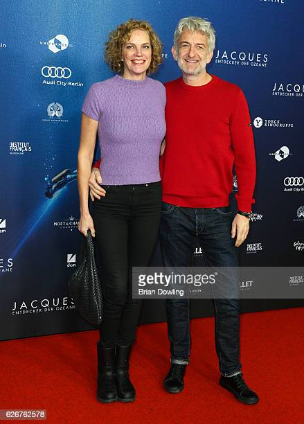 Dominic Raacke and Alexandra Rohleder on the red carpet on arrival for the opening film of the 16th French Film Week Berlin 'L'Odyssee' at Kino...