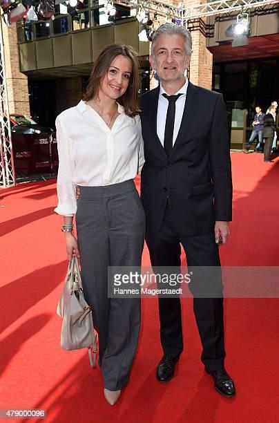 Dominic Raacke and girlfriend Alexandra Rohleder attend the Cine Merit Award during the Munich Film Festival at Gasteig on June 29 2015 in Munich...