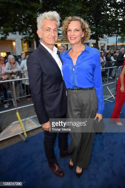 Dominic Raacke and his girlfriend Alexandra Rohleder attend the Deutscher Schauspielpreis 2018 at Zoo Palast on September 14 2018 in Berlin Germany