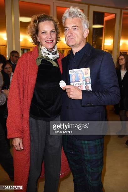 Dominic Raacke and his girlfriend Alexandra Rohleder attend the 'Willkommen bei den Hartmanns' theater premiere on September 23 2018 in Berlin Germany